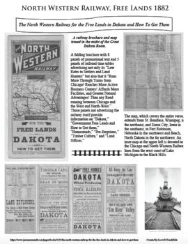 North Western Railway LAND! Dakota Territory PRIMARY SOURCE ACTIVITY