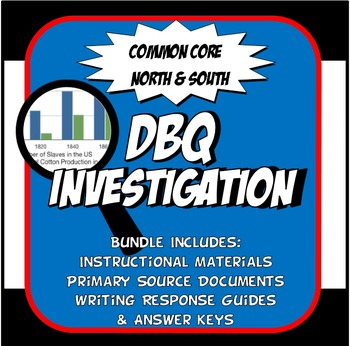 DBQ North and South Grow Apart Common Core Document Based Question Activity