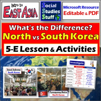 """""""North and South Korea: What's the Difference?"""" Intro Lesson"""