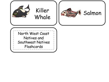 North and South Native American themed Picture Word Flash Cards. Preschool Histo