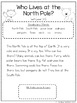 North and South Poles: CCSS Aligned Leveled Reading Passages and Activities