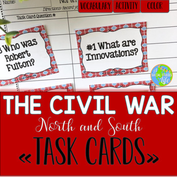 Sectionalism Task Cards and Recording Sheet