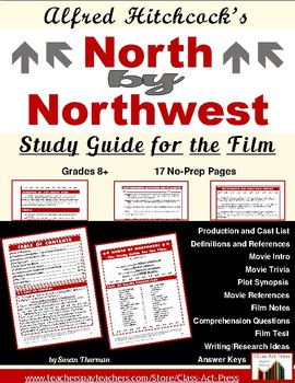 North by Northwest: Study Guide for Alfred Hitchcock Film (14 p., Ans. Key, $12)