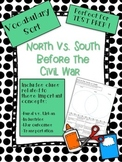 North vs. South Civil War Vocabulary Word Sort