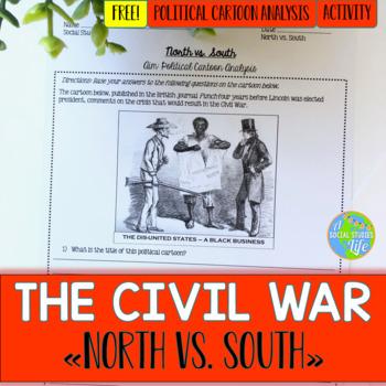 North vs. South Political Cartoon Analysis FREEBIE