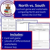 North vs. South card sort: teaching differences in antebel