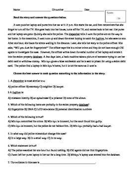NorthStar 2 Unit 4 Quiz