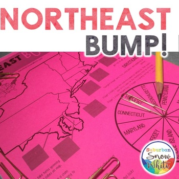 Northeast Bump Game for United States, U.S. Capitals, and Abbreviations