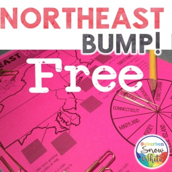 Northeast Bump Game for United States, U.S. Capitals, and Abbreviations (FREE!)