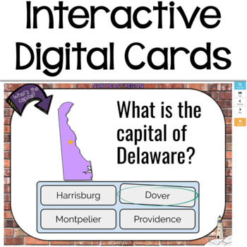 Northeast Region Boom Cards: Digital Task Cards