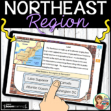 Northeast Region Boom Cards Distance Learning
