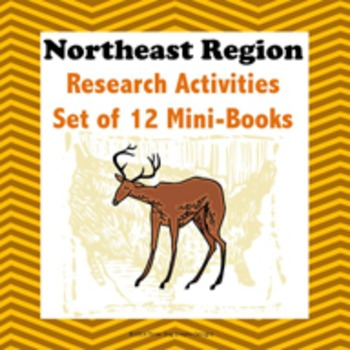 Northeast Region Bundle of 11 State Webquests Mini Book Research Activities