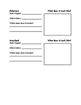 Northeast Region Graphic Organizer