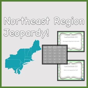 Northeast Region Jeopardy Style Review Game