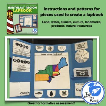 Northeast Region Lapbook and Unit Bundle (5 Regions)