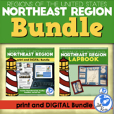 Northeast Region Lapbook and Unit Bundle Print and Distance Learning