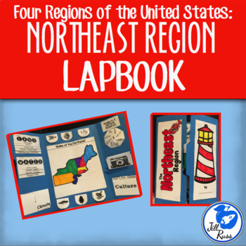 Northeast Region Lapbook or Interactive Notebook {Four Regions}