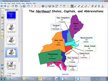 Northeast States Map Teaching Resources | Teachers Pay Teachers