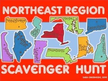 Northeast Region Scavenger Hunt - U.S. Regions