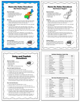 Northeast Region Showdown | States and Capitals Game
