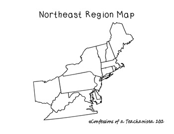 Northeast Region States And Capitals Unit By Confessions ...