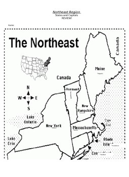 Northeast Region States And Capitals Quiz By Jessica Forte ...
