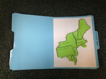 Northeast Region Study Folders-States and Capitals