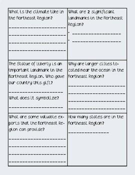 Northeast Region Task Cards