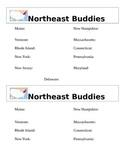Northeast Region of the US Buddies Sheet