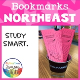 Northeast United States Bookmarks with States, Capitals, a