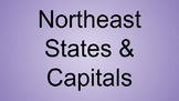 Northeast States & Capitals Interactive Notebook
