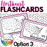 Northeast States Flashcards, States, Capitals, Abbreviatio