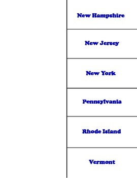 Northeast States Foldable