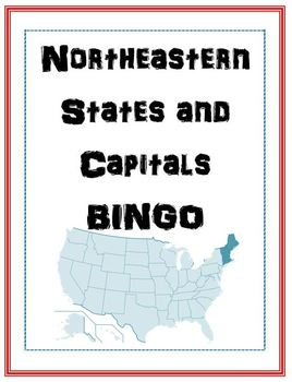 Northeast States and Capitals BINGO