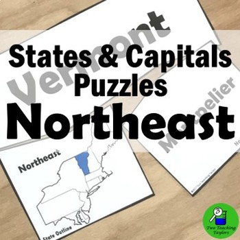 States and Capitals: Northeast Puzzles