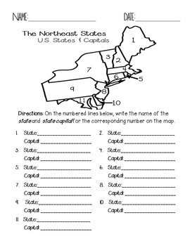 Map Of Northeast Us States With Capitals Justinhubbardme Region - Map of northeast us states and capitals
