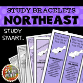 Northeast United States Bracelets with States, Capitals, A