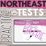 5 Regions of the United States Capitals Tests: NORTHEAST |
