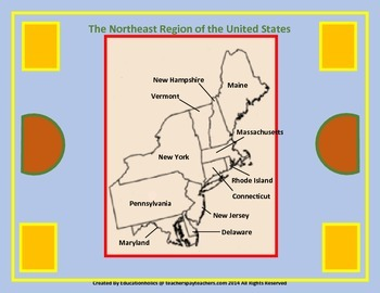 Northeast United States Region Interactive Notebooks Bundle