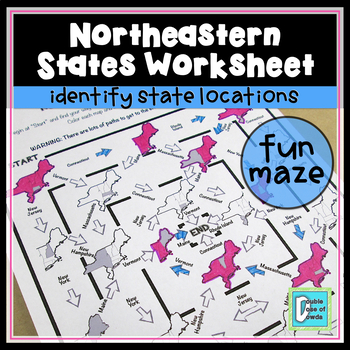 Northeastern States Worksheet