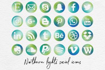 Social Media Icons: Mail, Blogger, Snapchat, Instagram, WordPress