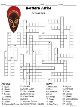 Northern Africa Crossword Puzzles