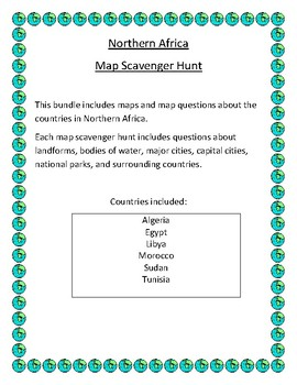 Northern Africa Map Scavenger Hunt