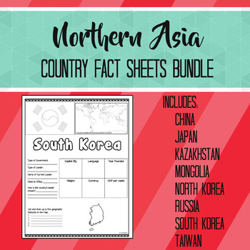 Northern Asia Country Fact Sheets