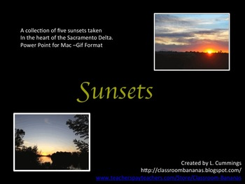 Northern California Delta Sunsets - Power Point