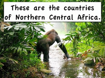 "Northern Central Africa mp4 Sing-Along Movie from ""Geography Songs"" Kathy Troxel"