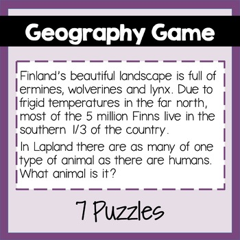Geography Game: Northern Europe Fun Facts Game, PowerPoint, Maps