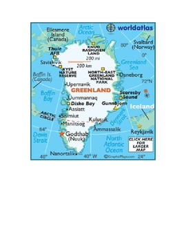 Northern Hemisphere Map Scavenger Hunt