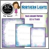 Northern Lights Background Digital Papers, Night Glow (Smita Keisser)