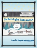 Northern Lights Haiku and Art Winter Poetry Activity